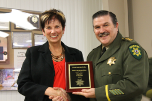 Pictured L to R: Sheriff's Technician Maryann Lillemo and Sheriff John D'Agostini